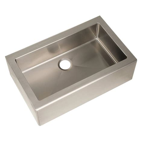 Home Depot Kitchen Sinks Stainless Steel Pegasus Farmhouse Apron Front Freestanding Stainless Steel 33 In Single Basin Kitchen Sink