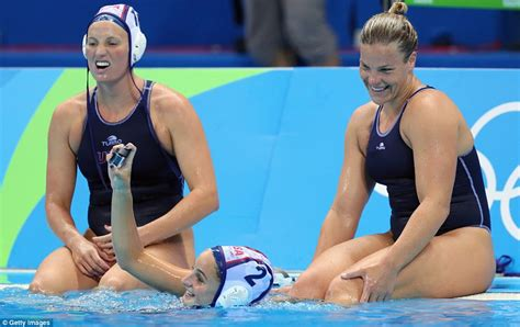 hot female water polo players team usa beat spain in opening round of women s water polo