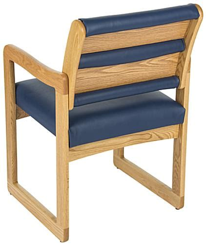 Waiting Area Chairs by Blue Waiting Area Chair Wooden With Vinyl Upholstery