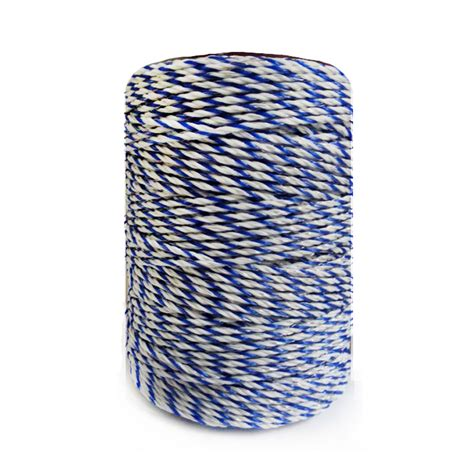 electric fence poly wire white blue polywire with steel