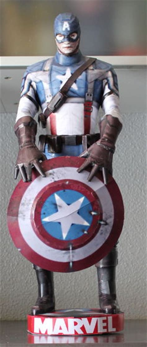 Captain America Papercraft - papercraftsquare new paper craft marvel comics