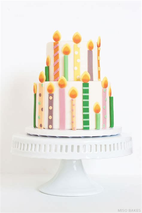 Cake Candle diy birthday candles cake