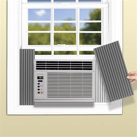 window air conditioner side curtains air conditioner side panel efficiency increasing noise