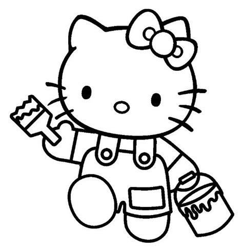 kitty color themes hello kitty coloriage hello kitty pot de peinture et