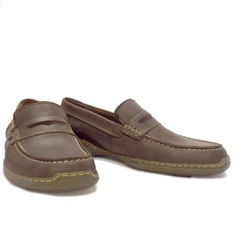 Loafer Mocca camel active carlton mens casual brown leather
