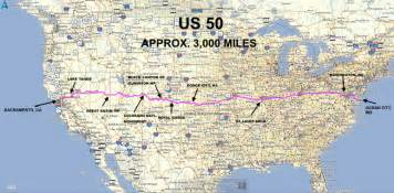 Route 50 Map by Roadrunner S Bucket List Roads Coast To Coast On Us 50