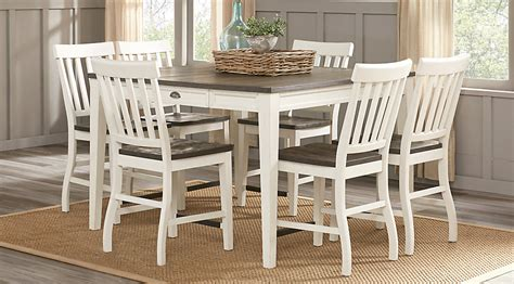 Counter Height Dining Room Set White Keston White 5 Pc Square Counter Height Dining Room