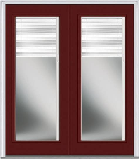 blinds for glass front doors low e glass mini blinds lite fiberglass burgundy