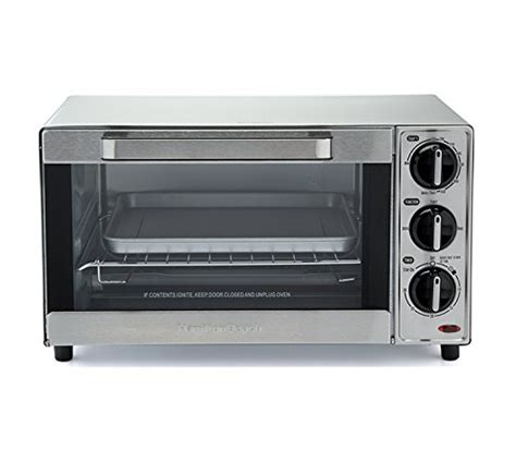 Home Goods Toaster Oven Hamilton 31401 Stainless Steel 4 Slice Toaster Oven