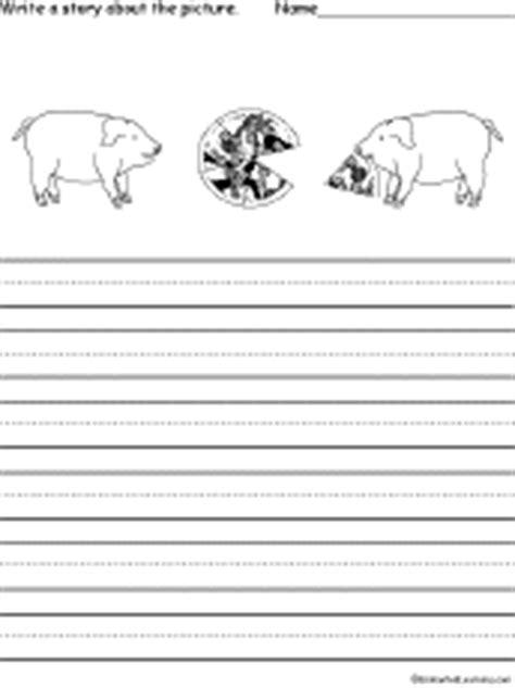 pig writing paper pigs at enchantedlearning