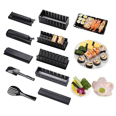 lacarla sushi tool set sushi maker kit diy 10 pieces plastic kit sushi tool set