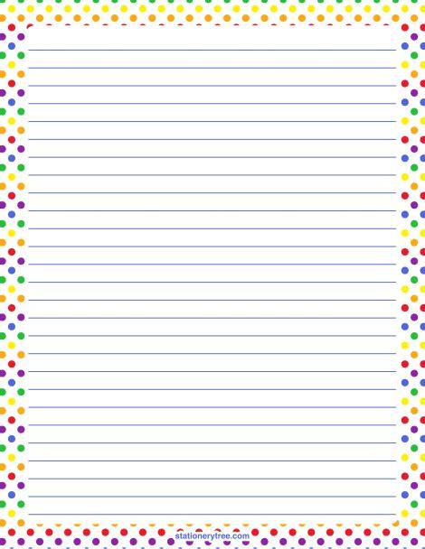 printable polka dot stationery printable rainbow polka dot stationery and writing paper