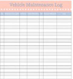 Maintenance Log Template Free by Vehicle Maintenance Log Template Sweet Tea Proper