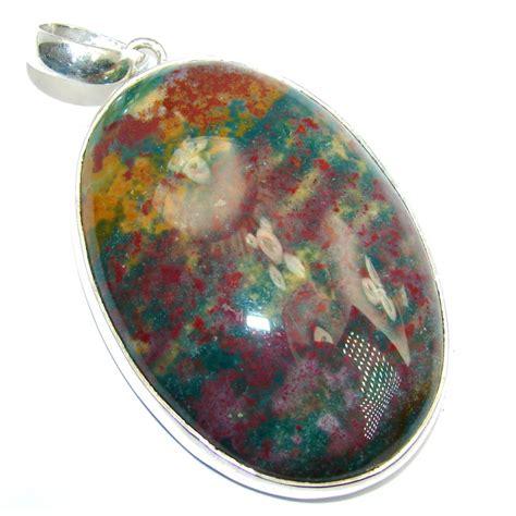 1 93 8 Heliotrope Bloodstone India aaa fancy bloodstone heliotrope from india sterling silver pendant 32 00g 79 95 best price