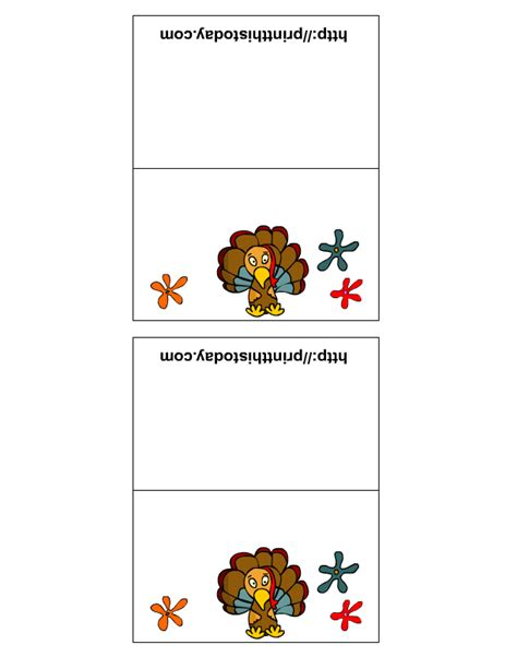 printable turkey place cards free printable thanksgiving place cards