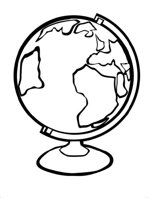 Galerry coloring page earth globe
