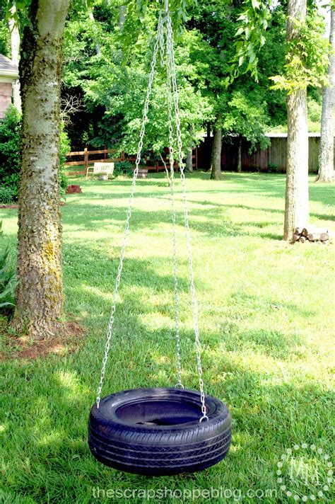 how to build a tire swing how to make a tire swing the scrap shoppe