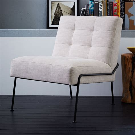west elm armchair oswald tufted slipper chair west elm uk