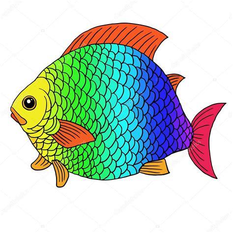 imagenes animales con escamas fant 225 stico pez con escamas de arco iris vector de stock