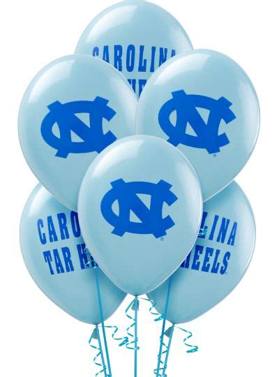 north carolina tar heels balloons ct college teams sports theme party theme parties