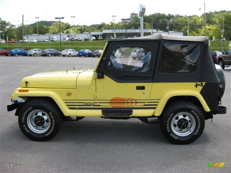 yellow jeep interior 1990 malibu yellow jeep wrangler islander 4x4 37423610