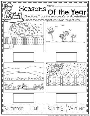 kindergarten activities on seasons summer preschool worksheets preschool seasons seasons