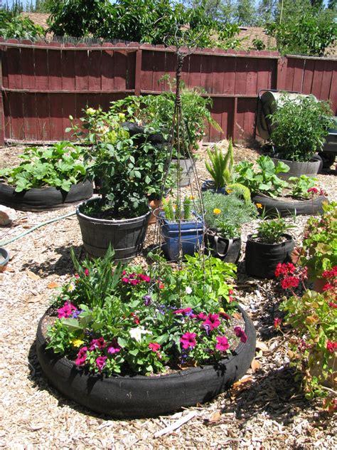 landscape redo garden  raised beds  fabric pots