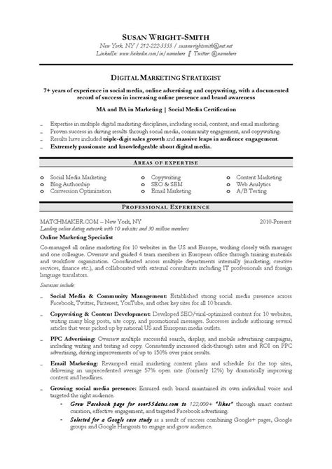 Resume Objective Promotion 17 Best Ideas About Marketing Resume On Best Resume Resume And Resume Tips