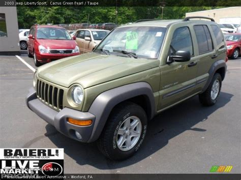 2003 green jeep liberty 2003 jeep liberty sport in cactus green pearl photo no