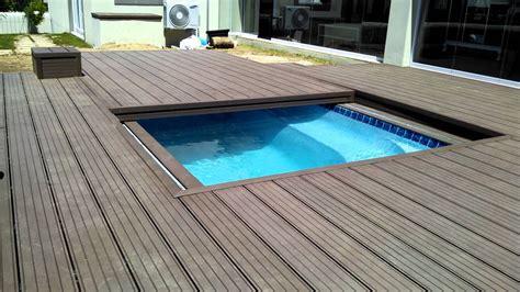 deckslife composite deck  motorized pool sliding