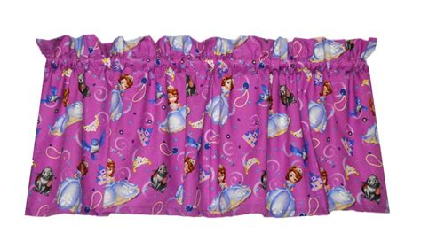 sofia the first curtains sofia the first window curtain valance colors include