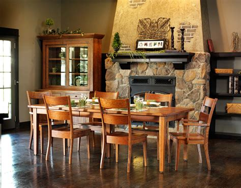 Handmade Dining Room Furniture - wellington dining room amish furniture designed