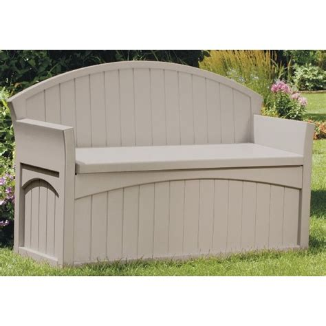 plastic garden bench with storage plastic garden storage bench