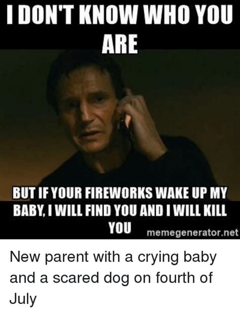 New Parent Meme - i don t know who you are but if your fireworks wake up my