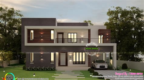 contemporary style house in 2300 square feet kerala home 4 bedroom flat roof contemporary 2300 sq ft kerala home