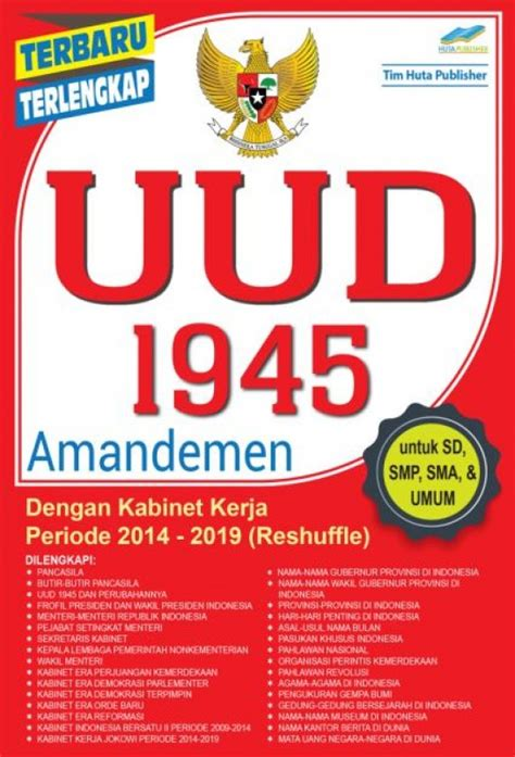 Terlengkap Uud 1945 Dan Amandemen bukukita uud 1945 amandemen dengan kabinet kerja