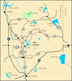 map and directions to lake oroville ca
