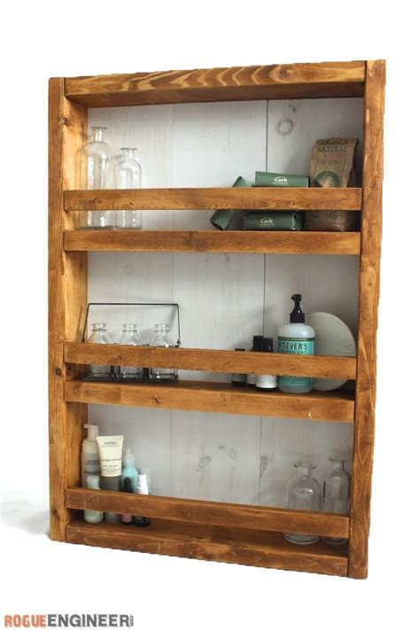Bathroom Shelf Plans by White Apothecary Wall Shelf Featuring Rogue Engineer