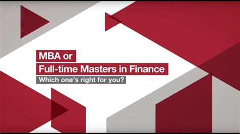 Mba Or Msc In Finance mba or masters in finance which one s right for you