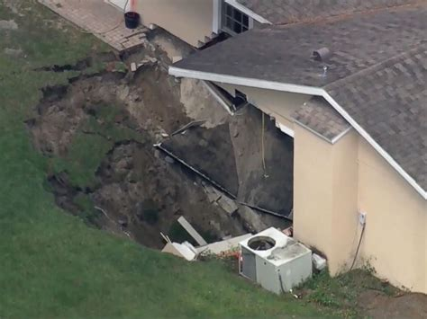 Where Are The Sink Holes In Florida by Florida Home Partially Swallowed By Sinkhole The