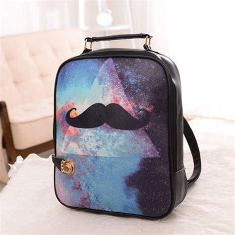 Parris Korean Bag 4 printing backpacks bag 2016 new korean