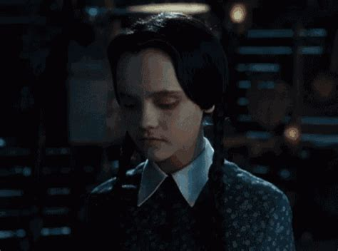 how wednesday addams would react to catcalling woe to the republic addams family values gif