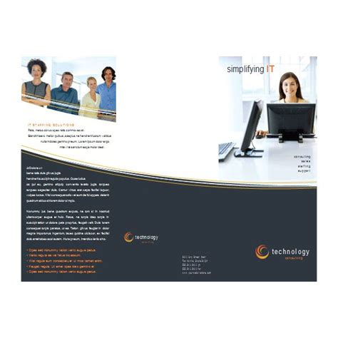 Brochure Templates For Ms Word 2003 Microsoft Phlet Template