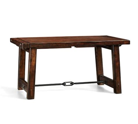 Square To Rectangular Extending Dining Table Benchwright Extending Dining Table Pottery Barn
