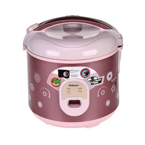 blibli rice cooker jual miyako mcm 18bhb rice cooker 1 8 l online harga
