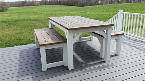 farm table and benches outdoor farmhouse table and benches