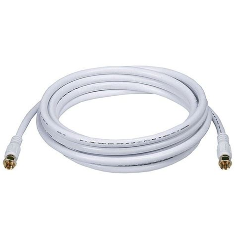 1 ft coaxial cable digiwave 12 ft rg6 coaxial cable rg621012wf the home depot
