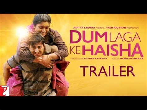 youtube film laga dum laga ke haisha trailer with english subtitles youtube