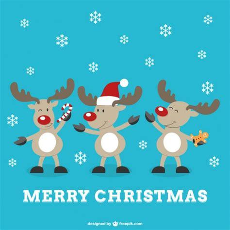 merry christmas letra imagenes vector de feliz navidad con renos descargar vectores gratis
