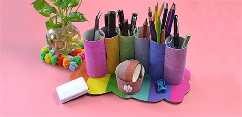 How To Make A Paper Pencil Holder - pandahall tutorial how to make toilet paper roll